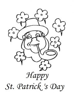 St. Patrick's Day coloring pages for kindergarten
