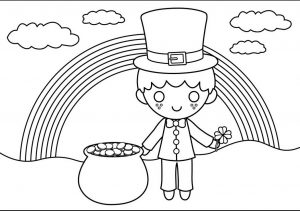 St. Patrick's Day coloring pages for preschool-Ireland