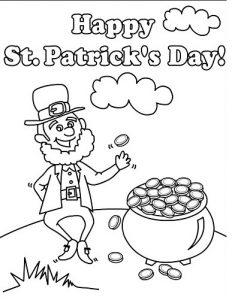 St. Patrick's Day coloring pages for preschool-kindergarten