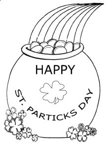 St. Patrick's Day coloring pages for preschooler