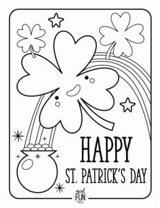 St. Patrick's Day rainbow coloring pages for preschool