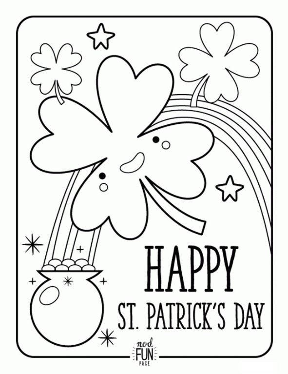 st particks day coloring pages - photo#22