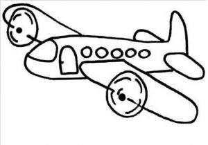 airplane coloring pages for kindergarten and preschool