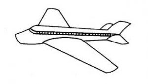 airplane vehicles coloring pages for toddler, preschool and kindergarten
