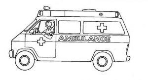 ambulance coloring pages free printable for primaryschool