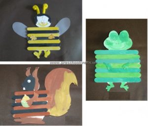 animals popsicle stick crafts for kids