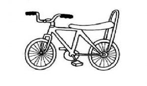 bicycle coloring pages free printable for preschool