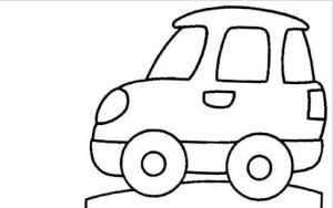 car coloring pages for kindergarten and preschool