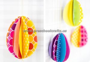 easter 3d mobile egg crafts
