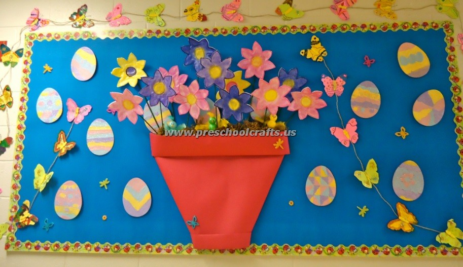 Easter Bulletin Boards For Kids Preschool And Kindergarten