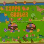 easter and spring time bulletin boards