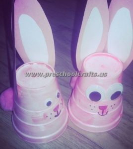 easter bunny crafts from paper cup