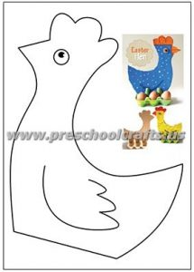 easter chicken craft ideas for kindergarten