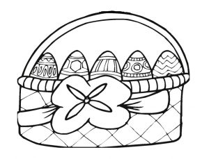 easter egg colouring pages for preschool