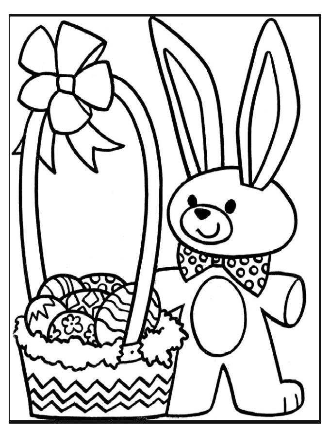 easter panda coloring pages for firstgrade - Preschool Crafts