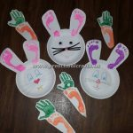 easter paper plate bunny crafts for kids