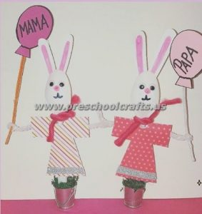 easter spoon bunny crafts for kids