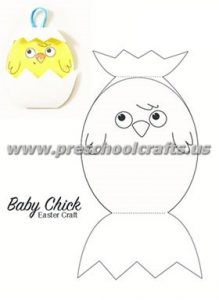 easy easter chick paper toy crafts