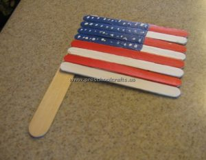 flag popsicle stick crafts for kids