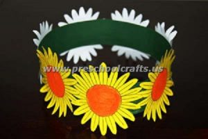 flower spring crown crafts for kids