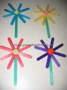 flowers popsicle stick crafts