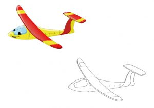 free printable airplane colored coloring pages for kindergarten and preschool