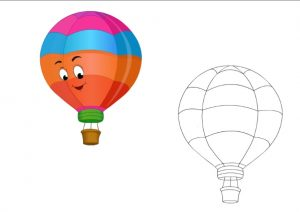 free printable aerostat coloring pages for kindergarten and preschool