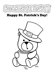 free printable happy St. Patrick's Day coloring pages for kids