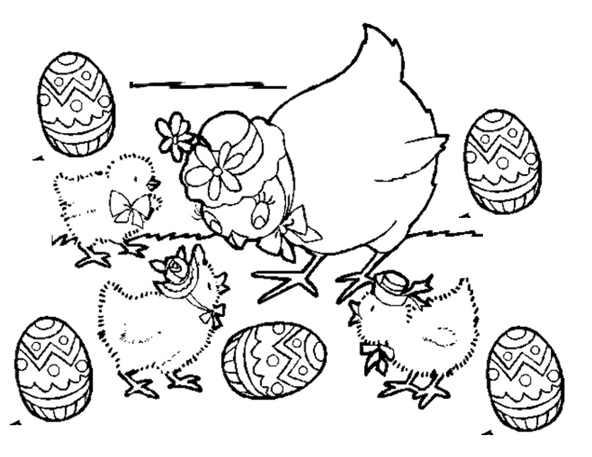 free printable happy easter coloring