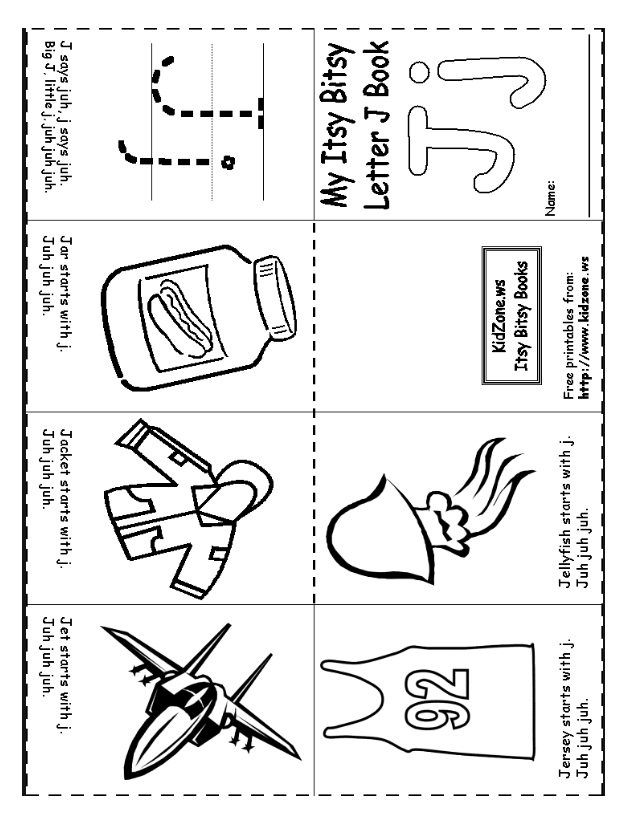 Free Printable Letter J Worksheet For Preschool 2 on Back To School Preschool Worksheets