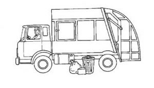 garbage truck coloring pages for preschool
