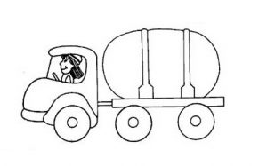 garbage truck coloring pages for preschooler