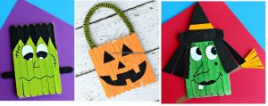 halloween popsicle stick crafts for kids