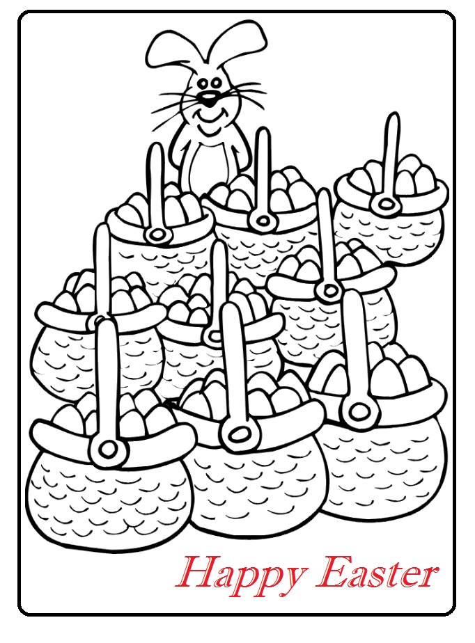 happy easter colouring pages for kindergarten - Preschool ...