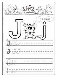 j is for jaguar free printable worksheet