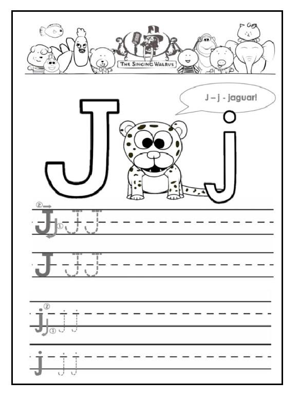 j is for jaguar free printable worksheet preschool crafts. Black Bedroom Furniture Sets. Home Design Ideas