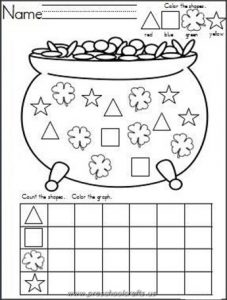 kindergarten st patrick day worksheets
