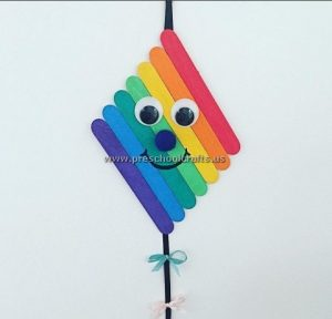 kite craft idea from popsicle sticks