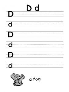 letter d worksheet for firstgrade