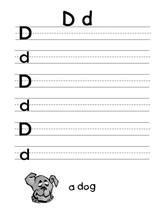 letter d worksheet for firstgrade preschool crafts. Black Bedroom Furniture Sets. Home Design Ideas