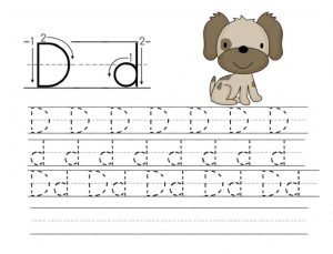 letter d worksheet for pre school