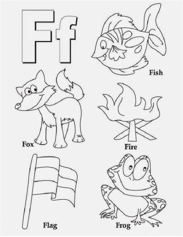 letter f coloring worksheet preschool crafts. Black Bedroom Furniture Sets. Home Design Ideas