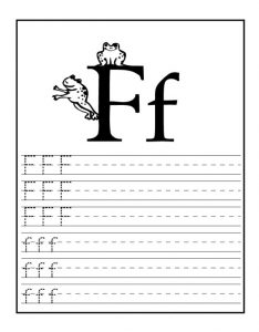 letter f worksheet for 1st grade