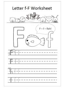 letter f worksheet preschool f is fish