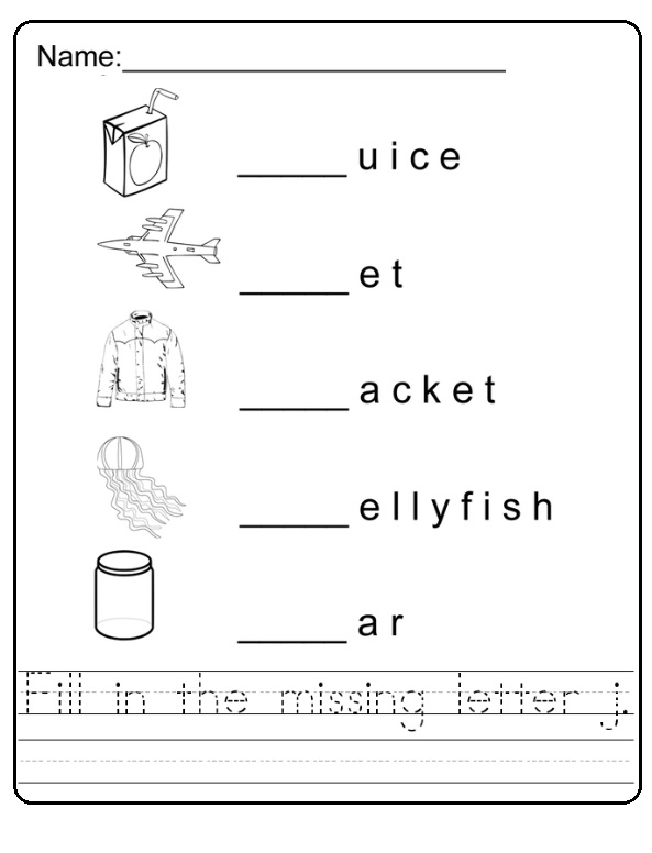 letter j worksheet for first grade and primary school Preschool – Letter J Worksheets