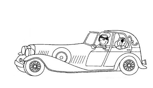 luxury car coloring pages for preschool preschool crafts. Black Bedroom Furniture Sets. Home Design Ideas