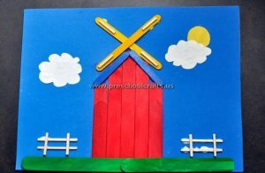 mill popsicle stick crafts for kids
