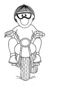 motorcycle coloring pages free printable for firstgrade