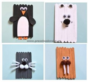 penquin popsicle stick craft idea