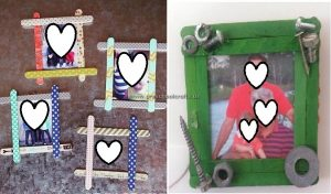 photo frame craft ideas from popsicle sticks
